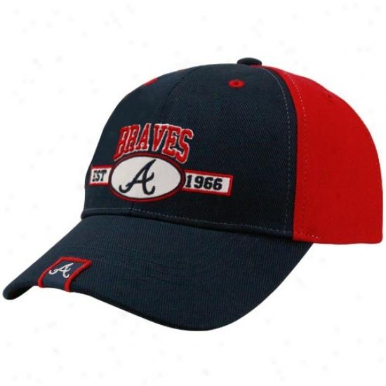 Atlanta Braves Hat : Twins '47 Atlanta Braves Red-navy Blue Frisch Adjustable Cardinal's office