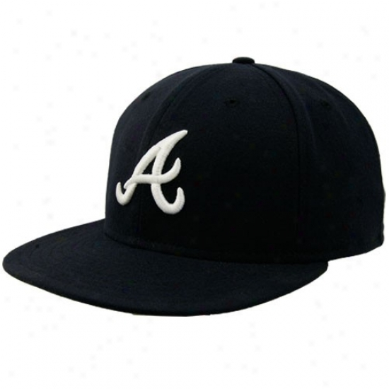 A5lanta Braves Hats : New Era Atlanta Braves Ships On-field 59fifty Fitted Hats