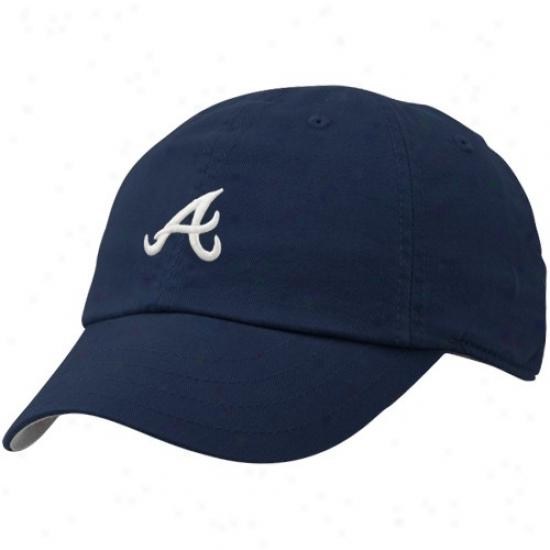 Atlanta Braves Hats : Nike Atlanta Braves Navy Dismal Ladies Campus Adjusable Hats