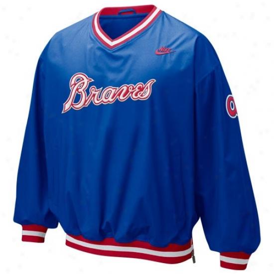 Atlanta Braves Jacket : Nike Atlanta Braves Royal Blue Beanball Windshirt