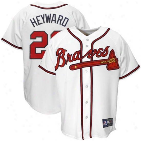 Atlanta Braves Jersey : Majestic Atlanta Braves #22 Jason Heyward White Replica Baseball Jersey