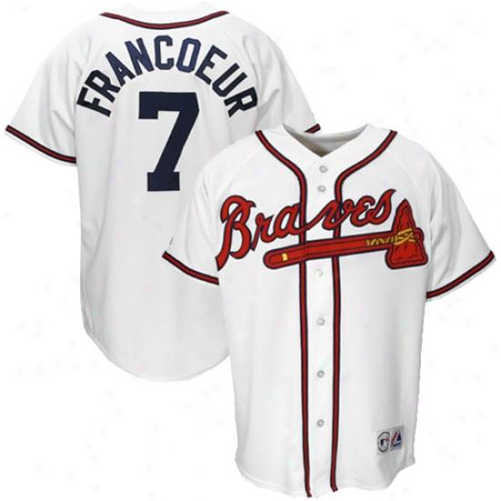 Atlanta Braves Jerseys : Majestic Atlanta Braves #7 Jeff Francoeur White Replica Baseball Jerseys