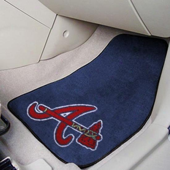 Atlanta Braves Navy Blue 2-pieceC arpet Car Mat Set
