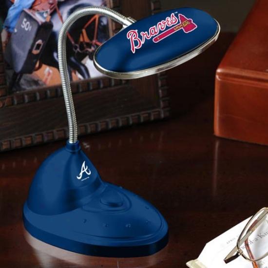 Atlanta Braves Navy Blue Led Desk Lamp
