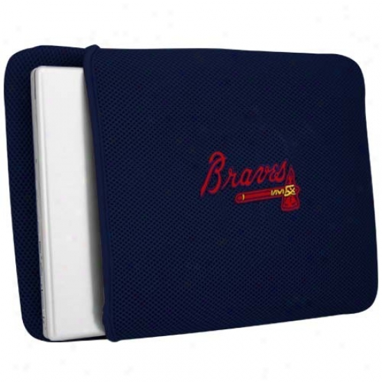 Atlanta Braves Navy Blue Mesh Laptop Cover