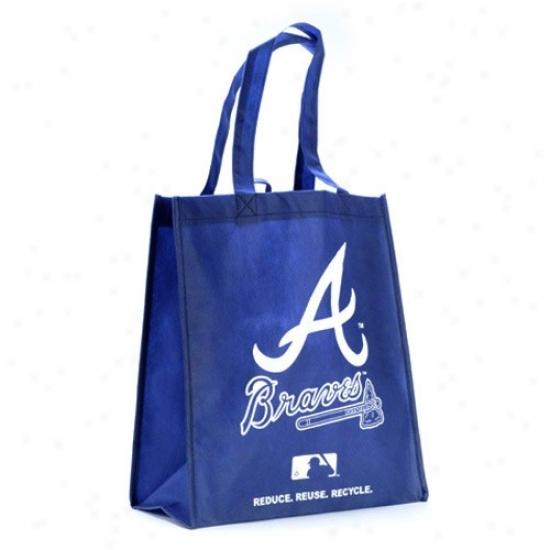 Atlanta Braves Navy Blue Reusable Tote Bag