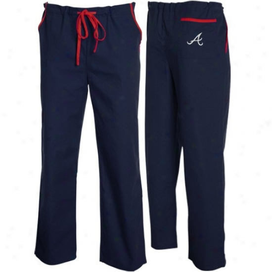 Atlanta Braves Ships Blue Scrub Pants