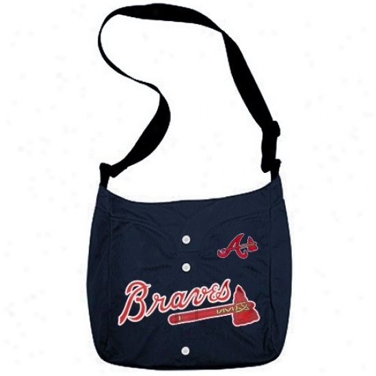 Atlanta Braves Navy Blue Veteran Jersey Tote Bag