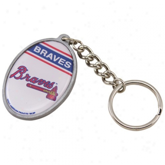 Atlanta Braves Oval Keychain