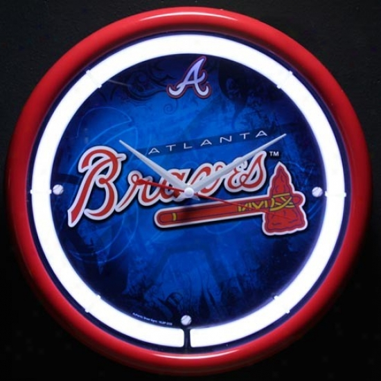 A5lanta Braves Plasma Wall Clock