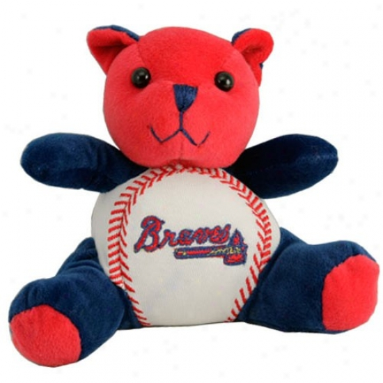 Atlanta Braes Plush Team Colors Baseball Bear