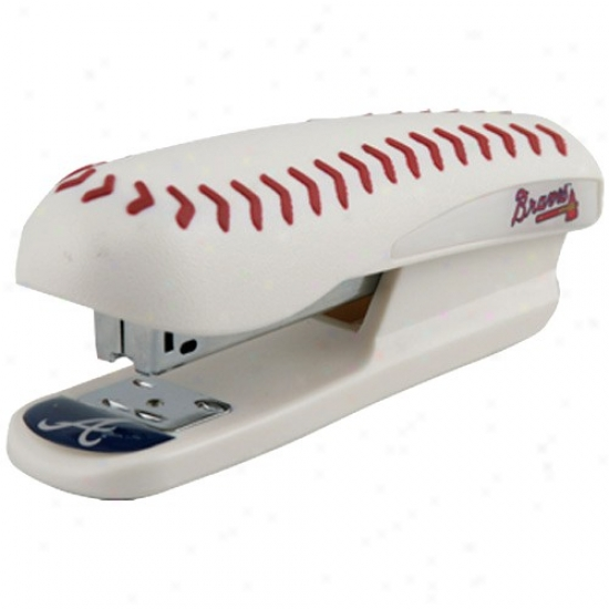 Atlanta Braves Pro-grip Baseball Stapler