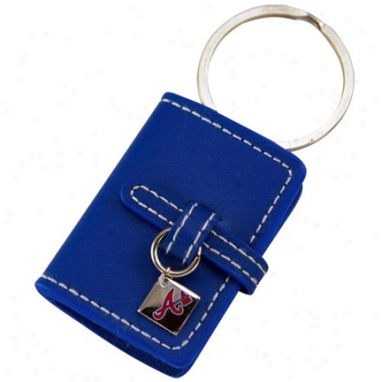 Atlanta Braves Royal Blue Ldather Photo Album Keychain