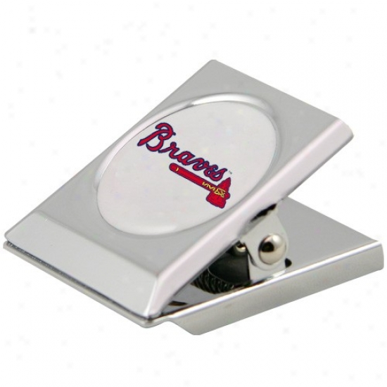 Atlanta Braves Silver Magnetic Heavy Duty Chip Clip