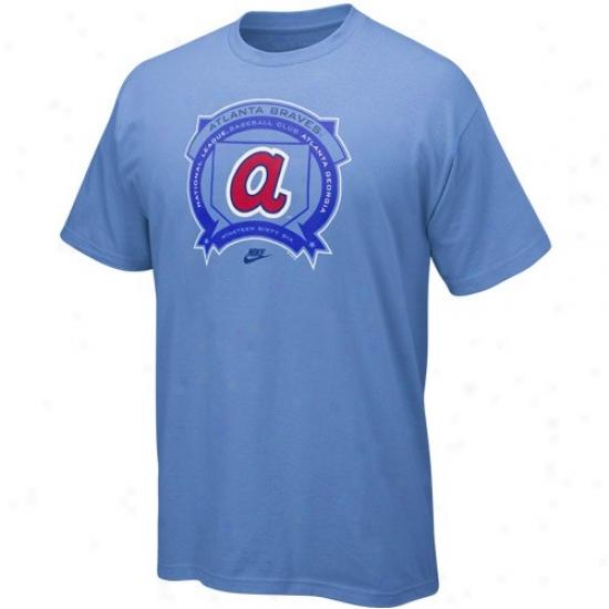 Atlanta Braves T Shirt : Nike Atlanta Braves Light Blue Cooperstown Hey Batta Batta T Shirt