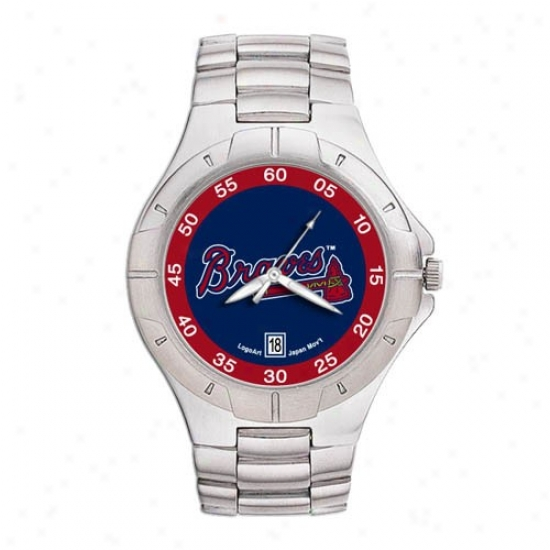 Atlanta Braves Watches : Atlanta Braves Men's Pro Ii Watches W/stainless Steel Band