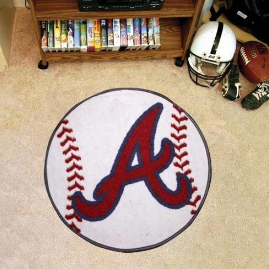 Atlanta Braves White Plump Baseball Mat