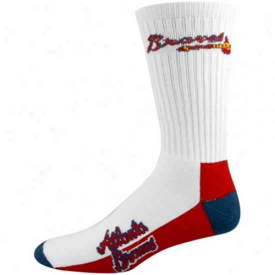 Atlanta Braves White Tri-color Team Logo Tall Socks