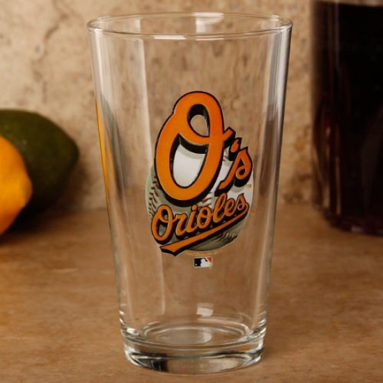 Baltimore Orioles 17 Oz. Enhanced Hi-def Mixing Glass