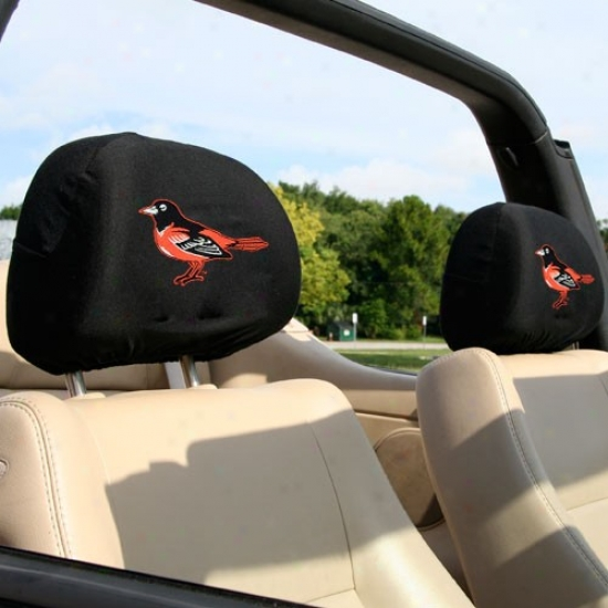 Baltimore Orioles 2-pack Headrest Covers
