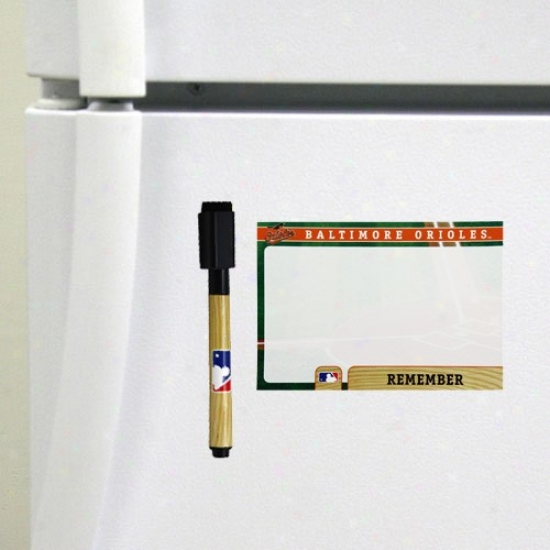 Baltimore Orioles 4-pack Magnetic Dry-erase Boards