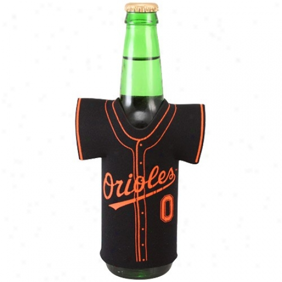 Baltimore Oriloes Black Jersey Bottle Coolie