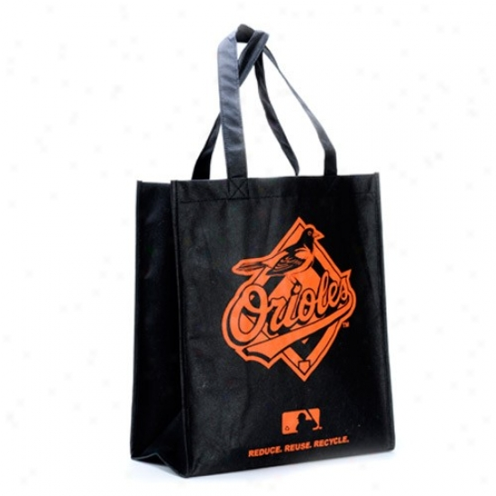 Baltmiore Orioles Black Reusable Tote Bag