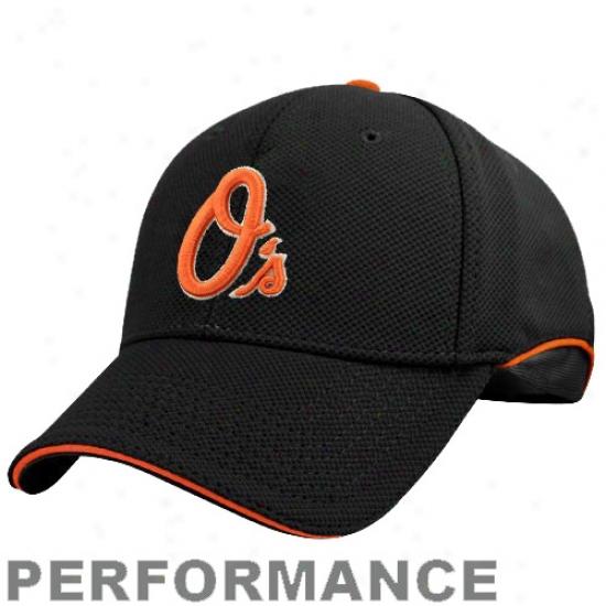 Baltimore Orioles Cap : New Era Baltimore Orioles Black Batting Practice 39thirty Performance Strerch Fit Cap