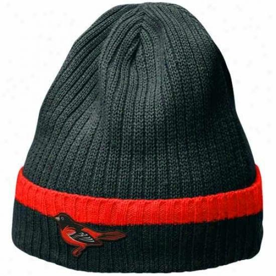Baltimore Orioles Cap : Nike Baltimore Orioles Black Dugout Beanie
