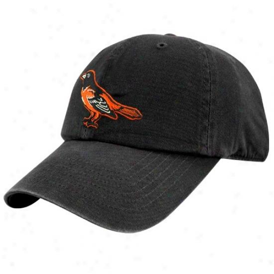 Baltimore Orioles Cap : Twins Enterprise Baltimore Orioles Black Franchise Fitted Cap