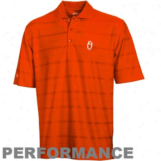 Baltimore Orioles Clothes: Antigua Baltimore Orioles Orange Tone Performance Polo