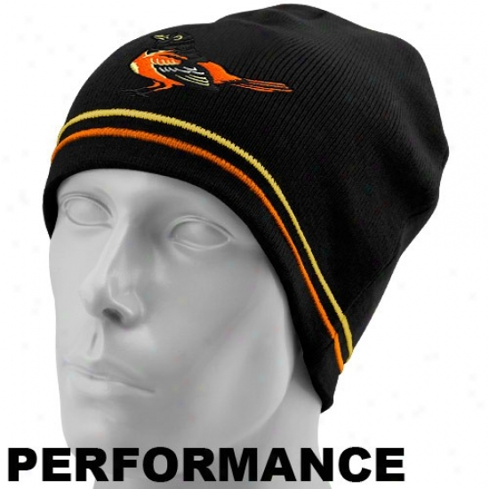 Baltimore Orioles Gear: New Epoch Baltimore Orioles Black Mlb Authentic Toque Perfofmance Knit Beanie