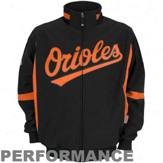 Baltimore Orioles Jackets : Majestic Baltimore Orioles Youtth Black Therma Base Premier Elevation Performannce Jackets