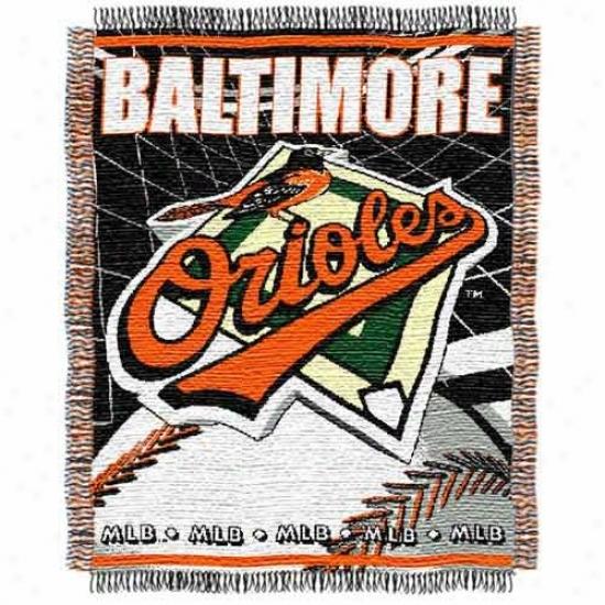 Baltimore Orioles Jacquard Woven Blanket Throw