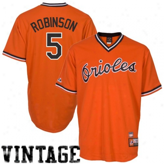 Baltimore Orioles Jerseys : Majestic Brooks Robinson Baltimore Orioles Cooperstown Baseball Jerseys #5 Orange