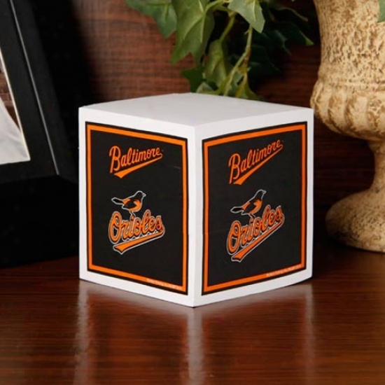 Baltimore Orioles Note Cube
