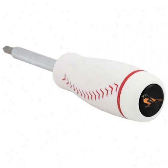 Baltimore Orioles Pro-grip Baseball Screwdrivet And Drill Bits