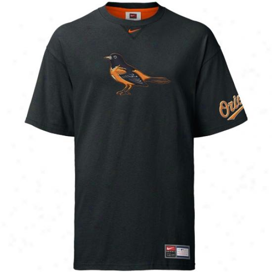 Baltimore Orioles Shirt : Nike Baltimore Oriples Black Logo Tackle Shirt