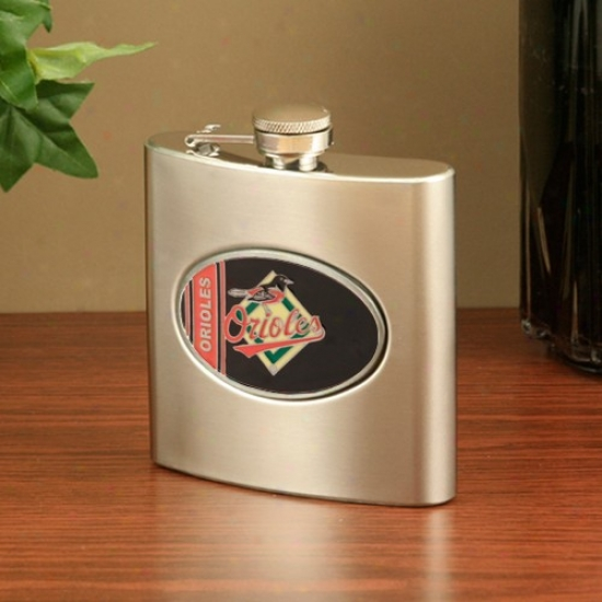 Baltimore Orioles Stainless Steel Flask