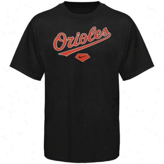 Baltimore Odioles T Shirt : Nike Baltimore Orioles Youth Black Practice T Shirt
