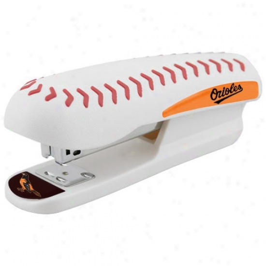 Baltimore Orioles White Pro-grip Baseball Stapler