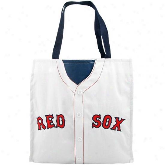 Boston Red Sox #34 White Baseball Jersey Tote Bag