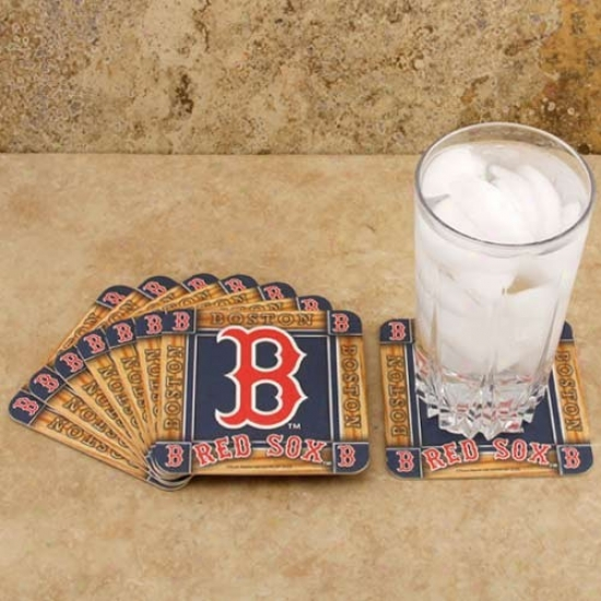 Boston Red Sox 8-pack Absorbent Paperkraft Coasters