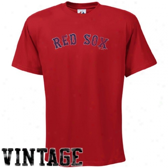 Boston Red Sox Apparel: Majestic Boston Red Sox Red Fashion Fit T-shirt