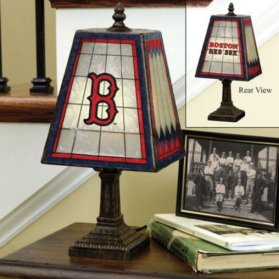Boston Red Sox Art-glass Table Lamp