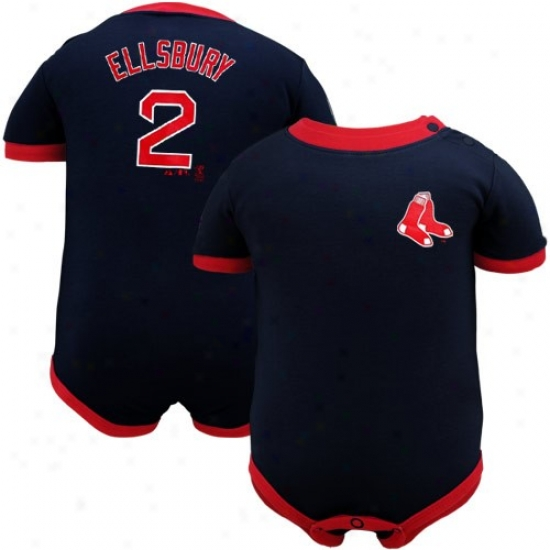 Boston Red Sox Attire: Majestic Boston Rex Sox #2 Jacoby Ellsbury Infant Navy Blue-red Performer Creeper