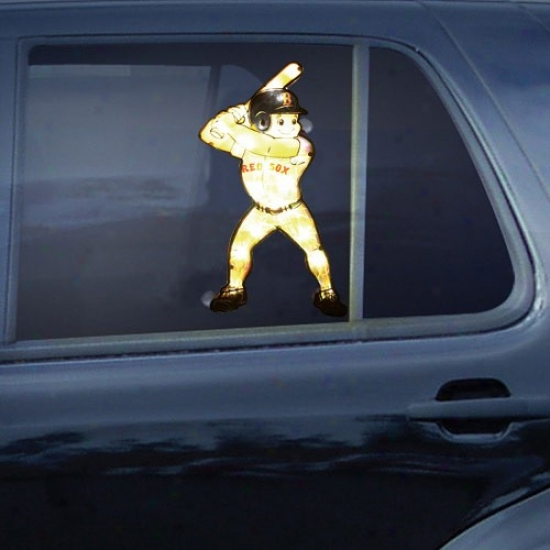 Boston Red Sox Baseball Player Car Window Light