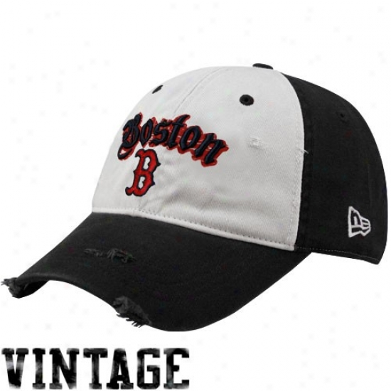 Boston Red Sox Cap : New Era Bkston Red Sox Navy Blue-natural L.e.c. Adjustable Cap
