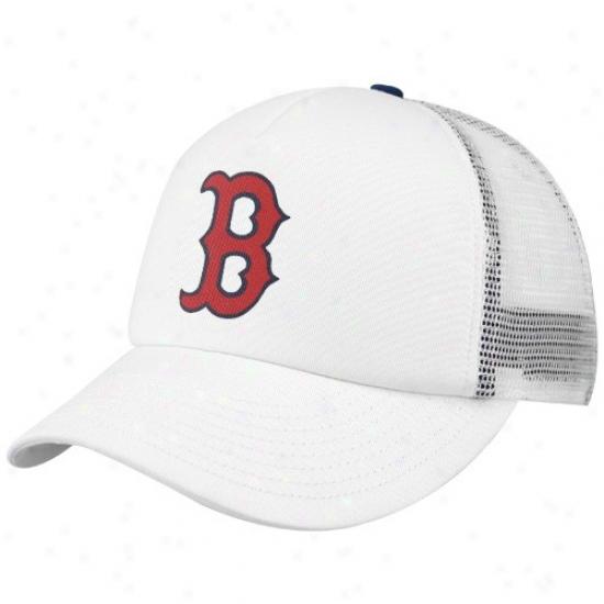 Boston Red Sox Caps : Nike Boston Red Sox White Mlb Foan Trucker Adjustable Caps