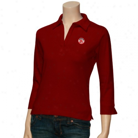 Boston Red Sox Clothing: Antigua Boston Red Sox Ladiws Red Sensible Polo